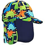 Product Image of the Baby Toddler Boys Dinosaur Swim Hat Water Hat UPF 50 + Sun Hat Quick Dry Flap...