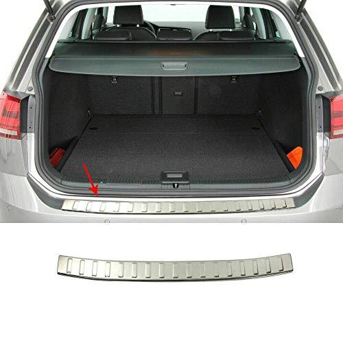 Chrom Ladekantenschutz mit Abkantung Edelstahl Kompatibel mit VW Golf VII Variant SW 2012-2021
