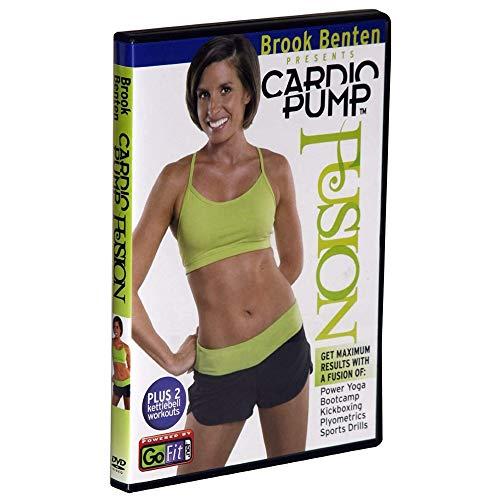 GoFit CardioPump Fusion Workout DVD - Intense Exercises with Brook Benten - Kettlebell, Power Yoga, Bootcamp, Kickboxing, Plyometrics & Sports Drills