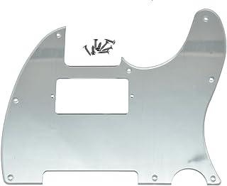 KAISH 8 Hole Tele Guitar Humbucker Pick Guard for USA/Mexican Fender Telecaster Silver Mirror