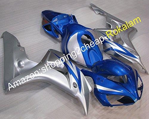 Kit de carénage en plastique ABS pour moto 2006 2007 CBR1000RR 06 07 CBR 1000 RR CBR1000 Silver Blue