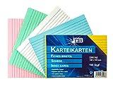 TSI - Tarjetas de cartulina (DIN A6, 100 unidades, a rayas), colores surtidos