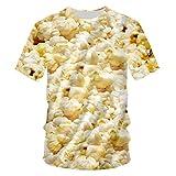 Shirts - Maglietta estiva 'O Neck' con stampa 3D popcorn,...