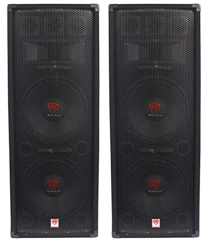 (2) Rockville RSG12.28 Dual 12 2000 Watt 8-Ohm Passive Pro Audio PA Speakers