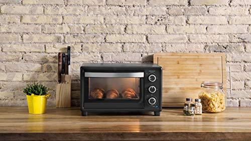 Cecotec Bake&Toast 550 Horno Sobremesa, Capacidad de 23 litros, 1500 W, 3 Modos, Temperatura hasta 230ºC