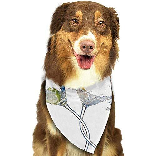 YAGEAD Hund Bandana Welpe und Haustier Bandanas, Party Paar Tanzen Klirren Gläser Martini Cocktail Limette Haustier Schal