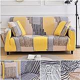 WXQY Funda de sofá elástica con Estampado geométrico para Sala de Estar, Funda de sofá de Esquina de Spandex, Funda de protección para Muebles, Funda de sofá A8 de 4 plazas