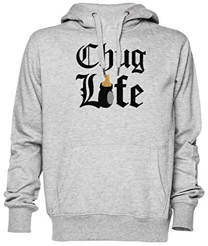 Chug Life Gris Jersey Sudadera con Capucha Unisexo Hombre Mujer Tamaño XXXL Grey Unisex Hoodie Size XXXL