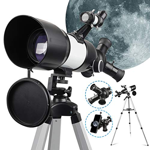 Telescope Astronomique Professionnel Enfant & Adulte Lunette Astronomique avec Portable Trépied Réglable