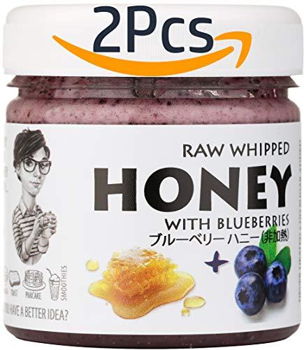 【Amazon.co.jp限定】 はちみつ 蜂蜜 ハチミツ 生 2個組 セット ブルーベリーハニー200g Blueberry 200g Raw Honey x 2 units