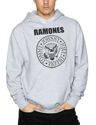 Ramones hombre Presidential Seal Capucha Small Gris Sport