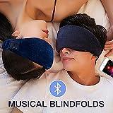 Masque de sommeil Bluetooth, Masque de sommeil casque Bluetooth, casque de sommeil de voyage de musique sans fil Bluetooth...