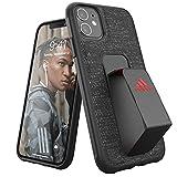 Adidas Sports - Funda para iPhone 11, Soporte de Agarre, Funda Protectora para teléfono móvil, Color Negro y Rojo