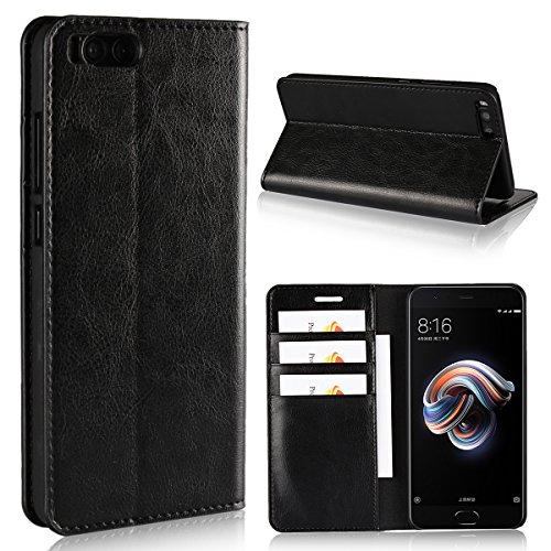 Copmob Funda Xiaomi Mi Note 3,Funda Xiaomi Note 3,Premium Flip Billetera Funda de Cuero,[Función de Soporte][3 Ranura para Tarjeta][TPU a Prueba de Golpes],Carcasa Xiaomi Mi Note 3 - Negro