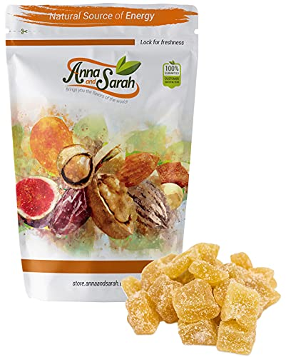 Anna and Sarah Unsulphured Crystallized Ginger Chunks in Resealable Bag, 2lbs (1 pack)