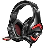 RUNMUS Gaming Headset PC Headset with 7.1 Surround Sound, PS4 Headset with Noise Canceling Mic & LED Light, Compatible with PC, PS4, Wired Over Ear Headphones for Mac, Laptop, Cellphones