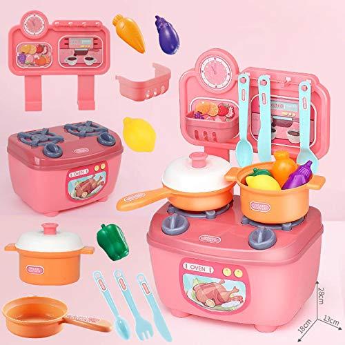 COJJ Mini vajilla de Cocina de simulación, Juego de Cocina de casa de Juegos educativos para niños, Juguete de 20 Piezas para niñas y niñas