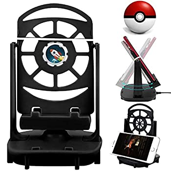 Setber Steps Counter Accessories Compatible for Pokemon Go Cellphone Pedometer  USB Cable   Support 2 Phones  Easy Installation   Mute Version  Quick Steps Earning Device -Black