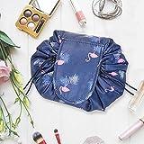 Lazy Drawstring Magic Cosmetic Pouch Bag,Fashion Portable Magic Toiletry Kit Organizer,Portable Travel Drawstring Organizer Makeup Bag,Large Capacity Waterproof Toiletry Organizer