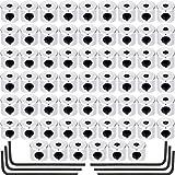 Leinuosen 60 Pièces Porte-Épingles Fermoir de Verrouillage Remplacement des Broches Arrière avec Une Clé (Couleur Argent, 6 x 5 mm)