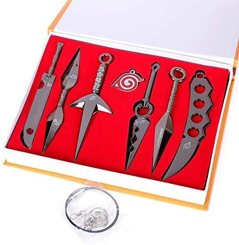 7 piezas Naruto Ninja Armas Metal Prop Shinobi Cosplay Toy