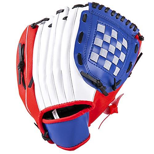 Tengcong Tech Profesionales para atrapar Guante de béisbol, Suave, sólido, Engrosamiento, Lanzador, Guantes de softbol para niños, Adolescentes, Adultos, (Rojo, 11.5)