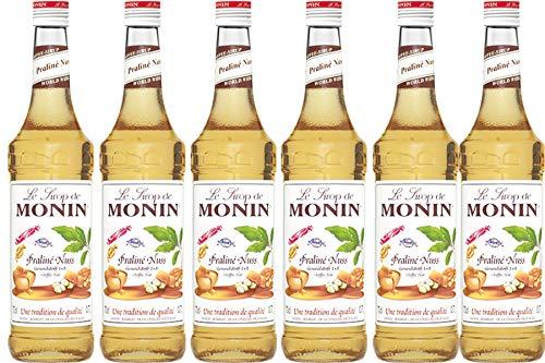 Monin Sirup Praline Nuss, 0,7L, 6er Pack