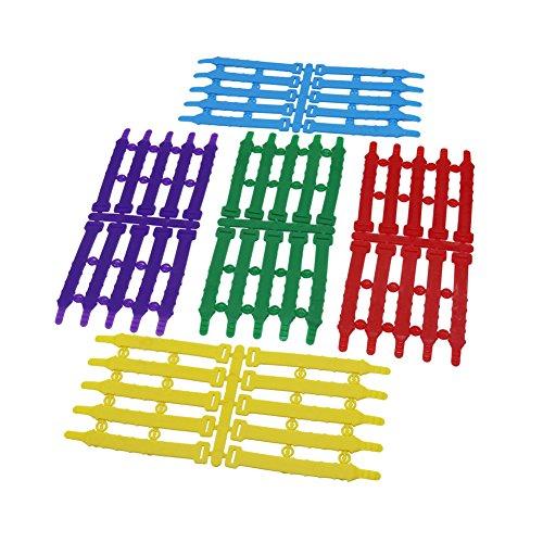Adhere To Fly 100 Stück Einstellbar 5 Verschiedene Größe PVC Huhn Vögel Bein Ringe Wiederverwendbare Clips Identifizierung Tags (Farben mischen)