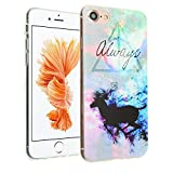 iPhone 8 Harry Potter Clear Case, IMAGITOUCH Harry Potter Deer Deathly Hallows Always Case Anti-Scratch Shock Proof Soft Touch Slim Fit Flexible TPU Case Bumper Cover for iPhone 8 Always Deer TPU