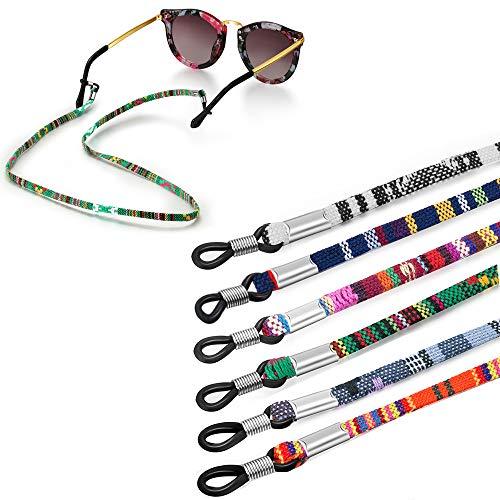 Jurxy 6 Stück Brillenkette Grobe Baumwolle Brillen Kette Sport Brillenbänder in Ketten Brillen Hals Schnur Gläser Band Brille Cords für Damen Geschenk