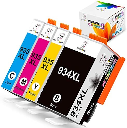 934XL 935XL Compatible Ink Cartridges Replacement for HP 934 XL 935 XL Work with Officejet 6812 product image