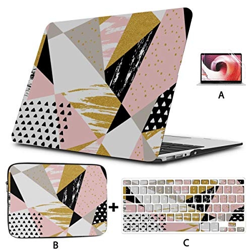 Mac Case Colorfulful Abstract Geometric Drawing 13 Macbook Air Case Hard Shell Mac Air 11'/13' Pro 13'/15'/16' With Notebook Sleeve Bag For Macbook 2008-2020 Version