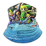 The Legend of Zelda Neck Warmer Soft Microfiber Headwear Face Scarf Mask for Cold Weather Winter Outdoor Sports Black