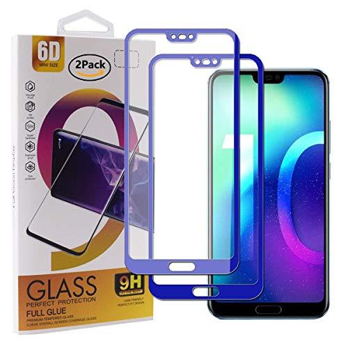 Guran [2 Pezzi Pellicola Vetro Temperato per Honor 10 Smartphone Copertura Completa 9H Durezza HD Pellicola Protettiva - Blu Scuro