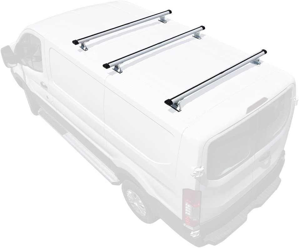 Vantech H3 Max 60% OFF 2-Bar Aluminum Rack System Fits: Quality inspection Cargo Ford 2 Transit