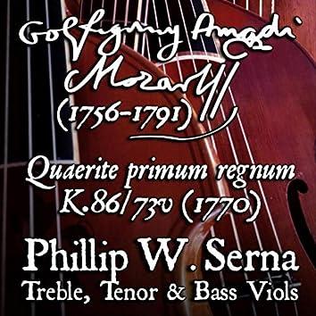 Mozart: Quaerite primum regnum Dei à4, K.86 / 73v