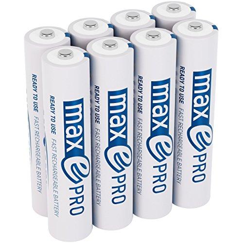 Preisvergleich Produktbild ANSMANN Micro Akku AAA 1, 2V min. 750mAh inkl. Akkubox - NiMH AAA Akkus über 2100-mal wiederaufladbar - wiederaufladbare Batterien AAA maxE PRO für geringere Selbstentladung - Akku Batterien 8 Stück