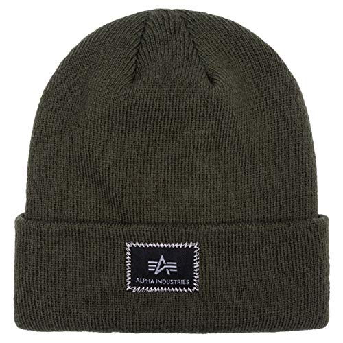 Alpha Industries X-Fit Beanie Dunkelgrün