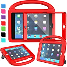 AVAWO Kids Case for iPad Mini 1 2 3 - Built-in Screen Protector Light Weight Shock Proof Handle Stand Kids Cover for iPad Mini 1st Gen, iPad Mini 2nd Gen, iPad Mini 3rd Generation - Red