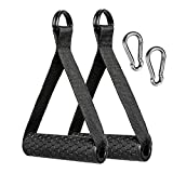 Upgraded Exerecise Resistance Band Handle Grips Replacement Fitness Equipment for Yoga, Strength Training (Black)