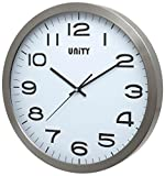Unity Manhattan - Reloj de Pared (Metal, 40 x 40 x 3 cm), Color Plateado