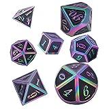 Set di Dadi D&D Poliedrici in Metallo per DND, Dadi di Dungeons & Dragons per Giochi di Ru...