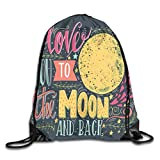 Drawstring Backpack Sports Gym Bag for Women Men, D2457 Valentines Day Featured Festival In Love Wish Feelings Image