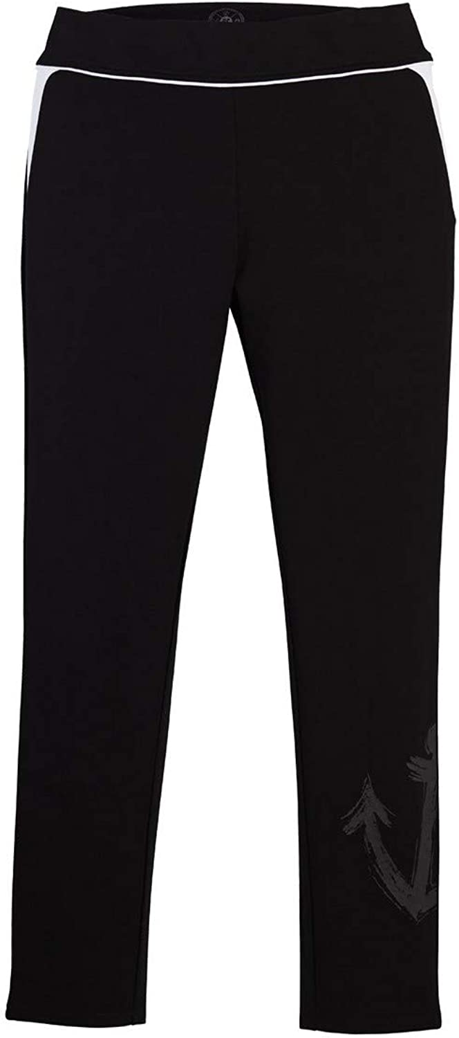 Beachcombers Womens Athleisure Black Leggings