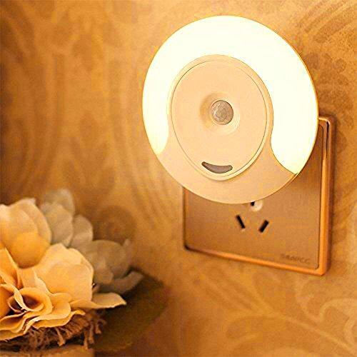 SLOSH Luz Notturna Infantil Sensor de Movimiento Luce Notturna Led WC Noche Enchufe