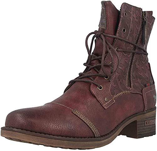 MUSTANG Shoes Stiefeletten in Übergrößen Bordeaux 1229-508-55 große Damenschuhe, Größe:43