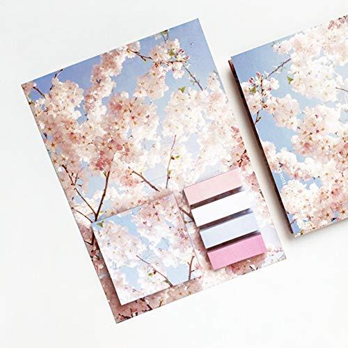 ZHANGXJ Notas Pegajosas Coloridas Brillantes Mini Stickies Bloc de Notas Súper Adhesivas en Caja Bloc de Notas Papel Mensaje Memo,para Oficina Casa Escuela (Size : Cherry Blossom)