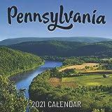 """Pennsylvania: 2021 Wall Calendar - 8.5""""x8.5"""", 12 Months"""