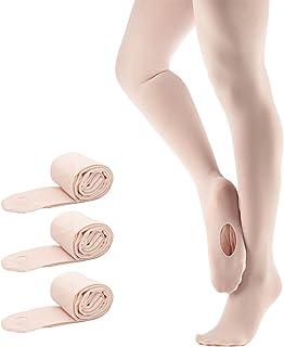 Bezioner Ballett Strumpfhose Cabrio Tanzstrumpfhose mit Fersenloch für Kinder Mädchen und Damen