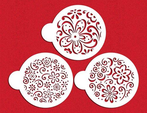 Designer Stencils - Set di Stencil per Decorare Biscotti e Piccoli Dolci